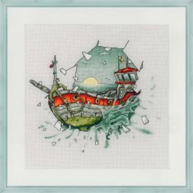 Набор для вышивки нитками на канве Фрам