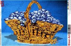 Схема вышивки бисером на габардине Кошик чорниць Biser-Art 30х40-525