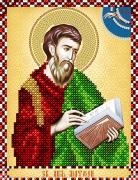 Схема вышивки бисером на атласе Св. Апостол Матфей (Матвей)