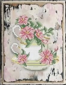 Набор для вышивания нитками Цветы 11