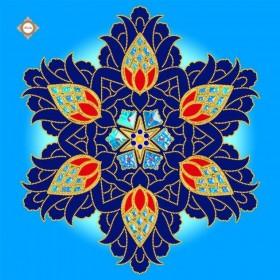 Схема-заготовка для вышивки бисером декоративной подушки Royal Sapphire Damask Миледи ПС-018 - 198.00грн.