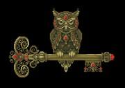 Схема вышивки бисером на габардине Мудрая сова