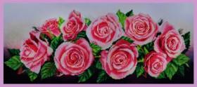 Набор для вышивки бисером а габардине Розовое настроение, , 759.00грн., Р-214, Картины бисером, Большие наборы