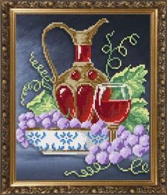 Схема вышивки бисером на авторской канве Натюрморт с графином 2, , 55.00грн., VKA4071, Art Solo, Алмазная мозаика