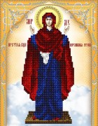 Схема для вышивки бисером на атласе Икона Божией Матери Нерушимая Стена