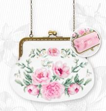 Косметичка для вышивки крестом Цветы Luca-S BAG025