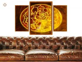 Схема для вышивки бисером на атласе Цветок богини любви Триптих, , 315.00грн., СЛТ-2212, Миледи, Картины из нескольких частей