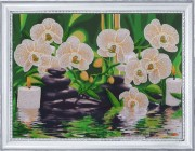 Набор для вышивки бисером Белые орхидеи