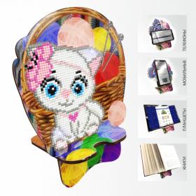 Подставка под телефон с алмазной мозаикой Кошечка рукодельница Art Solo АРМ-08 - 299.00грн.