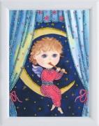 Рисунок на атласе для вышивки бисером Колыбельная