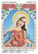 Схема вышивки бисером на атласе Непорочное Сердце Марии