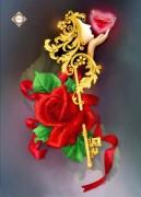 Схема для вышивки бисером на атласе Секрет любви