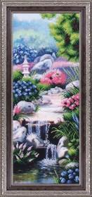Набор для вышивки бисером Водопад в стиле Фэн-шуй, , 392.00грн., Б-210 МК, Магия канвы, Схемы и наборы для вышивки бисером по Фен шуй