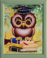 Схема для вышивки бисером Мудрая сова Баттерфляй (Butterfly) СМ113