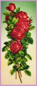 Набор для вышивки бисером Букет красных роз