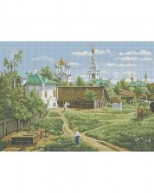 Схема для вышивки бисером на габардине Московский дворик Acorns А3-К-850 - 70.00грн.