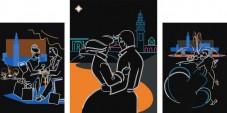 Схема для вышивки бисером на атласе Любовь в большом городе