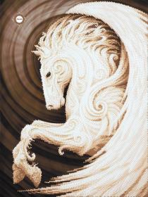Схема для вышивки бисером на атласе Пегас