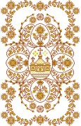 Схема вышивки бисером на габардине Рушник пасхальний