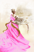 Схема вышивки бисером на атласе Белый рояль