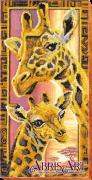 Набор для вышивки бисером на холсте Жирафы