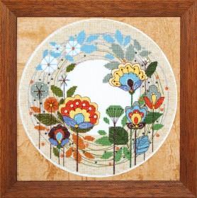 Набор для вышивания в смешанной технике Цветочный круговорот