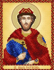 Схема вышивки бисером на атласе Св. князь Ростислав А-строчка АС5-151 - 34.00грн.