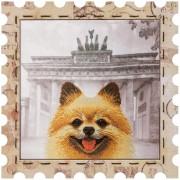 Набор для вышивки нитками Почтовая марка Шпиц