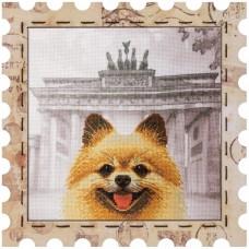 Набор для вышивки нитками Почтовая марка Шпиц Новая Слобода (Нова слобода) КО4027-У