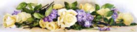Схема для вышивки бисером на габардине Прованский букет, , 320.00грн., ТК-044, Tela Artis (Тэла Артис), Цветы