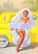 Схема для вышивки бисером на атласе Сбежавшая невеста
