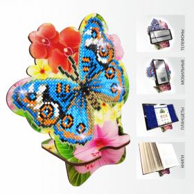 Подставка под телефон с алмазной мозаикой Бабочка и Орхидея Art Solo АРМ-04 - 299.00грн.