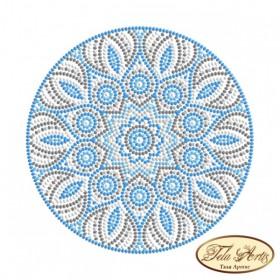 Схема вышивки бисером на габардине Мандала Бирюза Tela Artis (Тэла Артис) МА-008(1)ТА - 50.00грн.