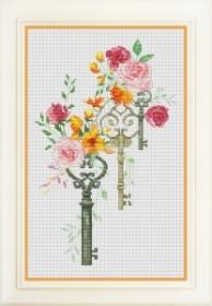 Набор для вышивки нитками Счастливые ключи, , 277.00грн., VN-066, OLANTA, Цветы