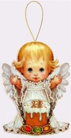 Набор для изготовления куклы из фетра для вышивки бисером Пасхальный ангелочек