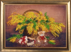 Набор для вышивки бисером Корзинка с мимозой Баттерфляй (Butterfly) 153Б