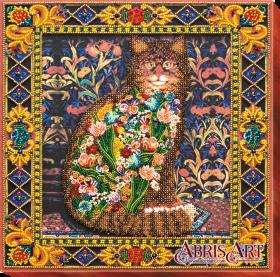Набор для вышивки бисером на холсте Сказка про кота