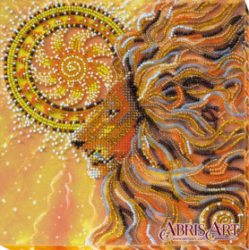 Набор-миди для вышивки бисером на натуральном художественном холсте Солнцелев