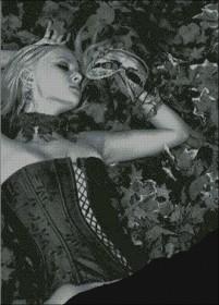 Схема вышивки бисером на атласе Дама с маской Эдельвейс А-1-021 Атлас - 275.00грн.