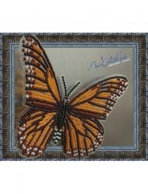 Набор для вышивки бисером на прозрачной основе Бабочка Данаида Монарх