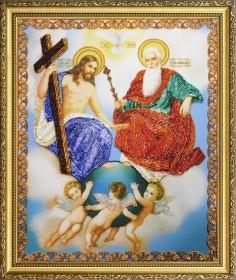 Набор для вышивки бисером Новозаветная Троица, , 480.00грн., Р-342, Картины бисером, Иконы 26*35 (А3)