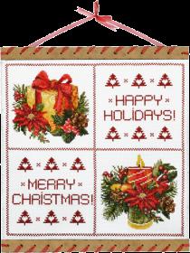Набор для вышивки нитками на канве Любимый праздник