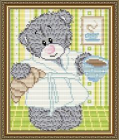 Набор для выкладки алмазной мозаикой Мишка с кофе Art Solo АТ5528 - 248.00грн.