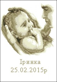 Схема вышивки бисером на габардине Метрика Тато та дитина, , 75.00грн., СМ-241, Эдельвейс, Метрики