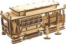 Набор деревянный конструктор Трамвай