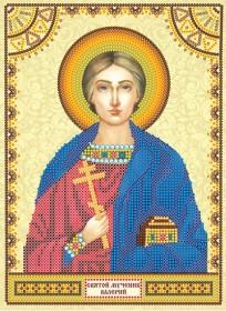 Схема для вышивки бисером на холсте Святой Валерий
