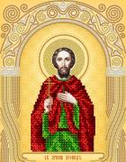 Схема вышивки бисером на атласе Св. мученик Леонид