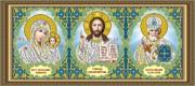 Рисунок на ткани для вышивки бисером Триптих