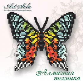 Набор-магнит для выкладки алмазной мозаикой Урания мадагаскарская (Chrysiridia rhipheus)