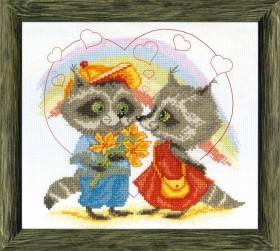Набор для вышивки крестом Первая любовь Cristal Art ВТ-40 - 61.00грн.